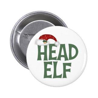 Regalo principal divertido del navidad del duende pin