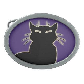 Regalo púrpura de las hebillas del cinturón del am hebilla cinturón oval
