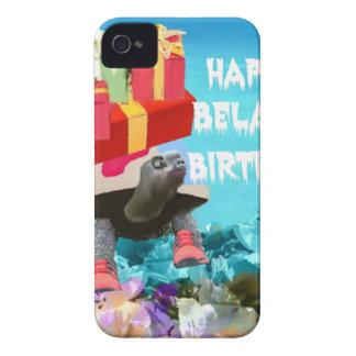 Regalo que cuida de la tortuga para el cumpleaños iPhone 4 carcasa