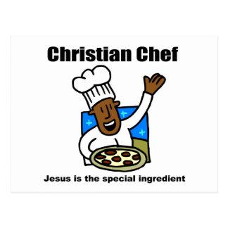 Regalo religioso del cocinero cristiano postales