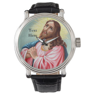 Regalo religioso del Jesucristo personalizado Relojes De Pulsera