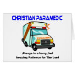 Regalo religioso del paramédico cristiano felicitaciones