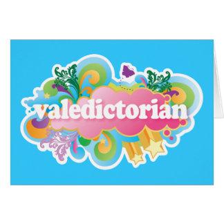 Regalo retro de la graduación del Valedictorian de Tarjeta De Felicitación