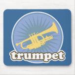 Regalo retro de la trompeta de la actitud de la mú tapete de ratón