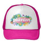 Regalo retro del piano del pianista gorras de camionero
