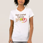 Regalo revestido plano de la mamá de la raza del camisetas