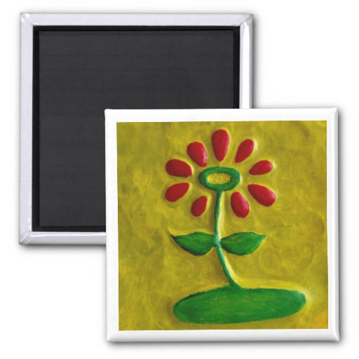 Regalo rojo de Magnet_Art de la flor de Injete Che Imán De Frigorifico