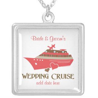 Regalo rojo del collar de la travesía del boda