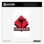 Regalo rojo del diamante de Sensei iPod Touch 4G Calcomanía