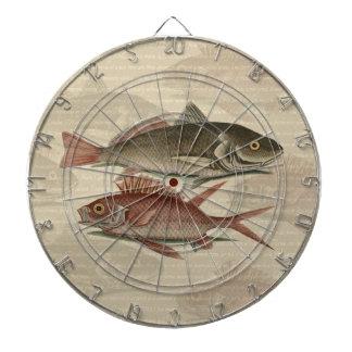 regalo rojo del pescador del vintage de la perca d