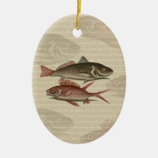 regalo rojo del pescador del vintage de la perca d ornamento para arbol de navidad