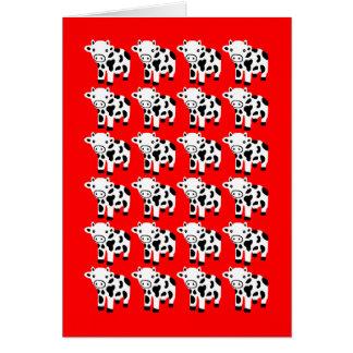 Regalo rojo lindo de la tarjeta de felicitación de