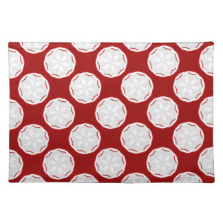 Regalo rojo y blanco de Placemat del diseñador Mantel