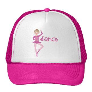 Regalo rosado de la bailarina de la danza gorro de camionero