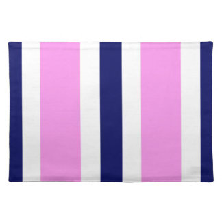 Regalo rosado de Placemat de la raya de los azules Mantel Individual
