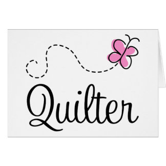 Regalo rosado lindo de Quilter Tarjeta De Felicitación