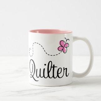 Regalo rosado lindo de Quilter Taza Dos Tonos