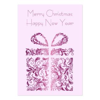 regalo rosado tarjetas de visita grandes