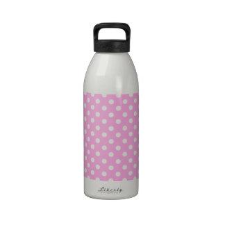 Regalo rosado y blanco del lunar botella de agua reutilizable