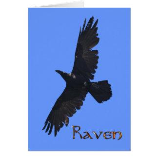 Regalo salvaje de la foto de la fauna del cuervo tarjetas