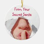 Regalo secreto de Santa Ornamentos De Reyes Magos