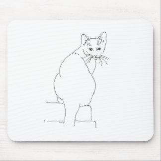 Regalo Shops.jpg del gato Tapetes De Ratones