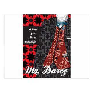 """Regalo """"Sr. Darcy """" del orgullo y del perjuicio de Tarjeta Postal"""