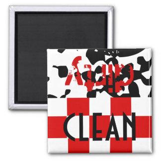 Regalo sucio limpio del lavaplatos del ayudante de iman de frigorífico