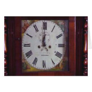 Regalo suizo antiguo del diseño del reloj de tarjeta de felicitación