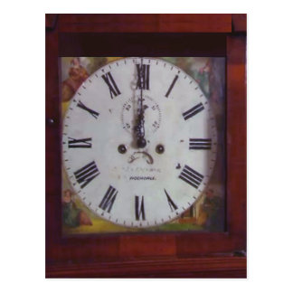 Regalo suizo antiguo del diseño del reloj de tarjeta postal