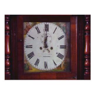 Regalo suizo antiguo del diseño del reloj de postal