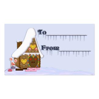 Regalo tag5 del navidad tarjetas de visita