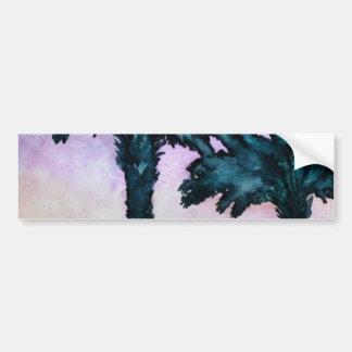 regalo tropical abstracto moderno del arte pegatina para auto