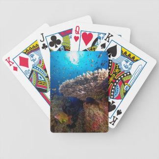 Regalo tropical del mar de coral de la gran baraja de cartas bicycle