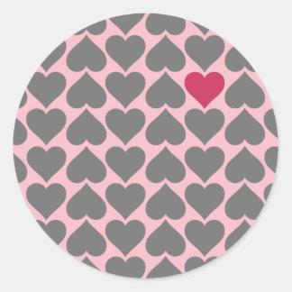 Regalo único del el día de San Valentín Pegatina Redonda