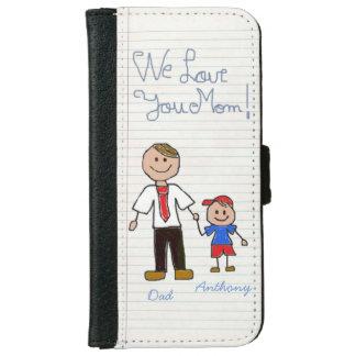 Regalo único para la mamá funda cartera para iPhone 6