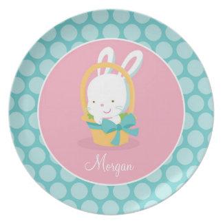 Regalo único personalizado de Pascua de la placa d Platos