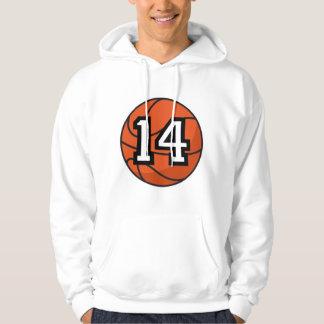 Regalo uniforme del número 14 del jugador de sudaderas con capucha