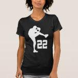 Regalo uniforme del número 22 del jugador de béisb camisetas