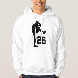Regalo uniforme del número 26 del jugador de sudadera encapuchada