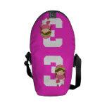 Regalo uniforme del número 3 del softball (chicas) bolsa de mensajería
