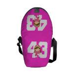 Regalo uniforme del número 43 del softball (chicas bolsas de mensajería