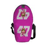 Regalo uniforme del número 47 del softball (chicas bolsa de mensajería