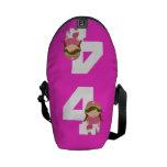 Regalo uniforme del número 4 del softball (chicas) bolsas messenger