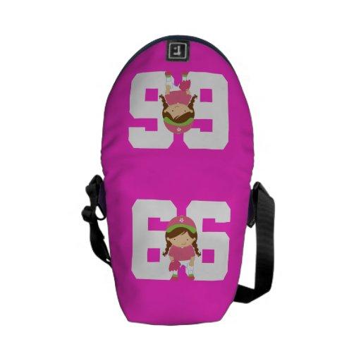Regalo uniforme del número 66 del softball (chicas bolsas de mensajería