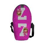 Regalo uniforme del número 7 del softball (chicas) bolsas de mensajeria