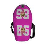 Regalo uniforme del número 86 del softball (chicas bolsas de mensajeria