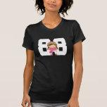 Regalo uniforme del número 88 del softball camisetas