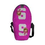 Regalo uniforme del número 9 del softball (chicas) bolsa de mensajeria
