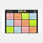 Regalo útil con el calendario para 2014 pegatina